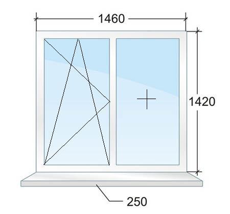 Двухстворчатое пластиковое окно в доме серии П44 в Москве