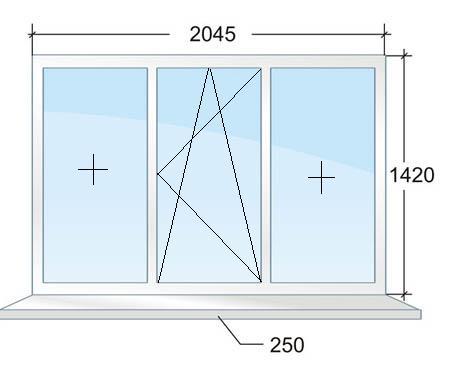 Трехстворчатое пластиковое окно в доме серии П44 в Москве