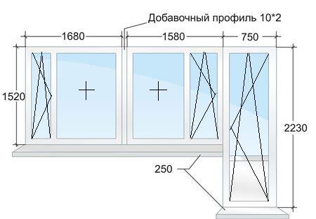 Балконный блок в доме серии П44 в Москве