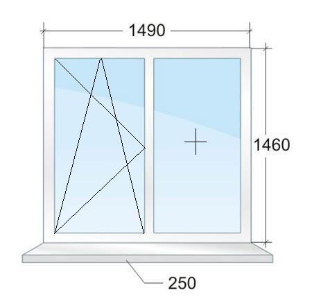 Двухстворчатое окно № 2