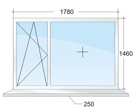 Двухстворчатое окно № 3