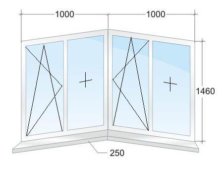 Эркерное окно с одним эркером № 4
