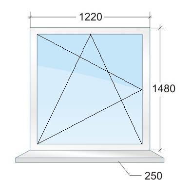 Одностворчатое пластиковое окно № 3