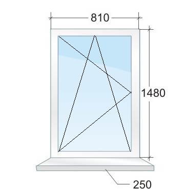 Одностворчатое пластиковое окно № 4
