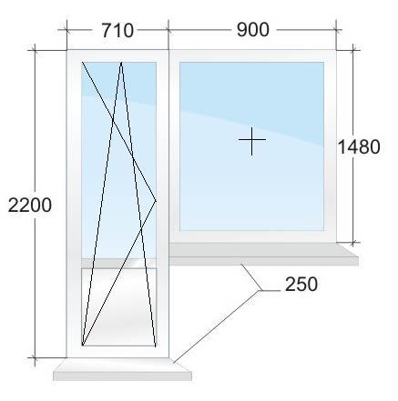 Пластиковый балконный блок № 5