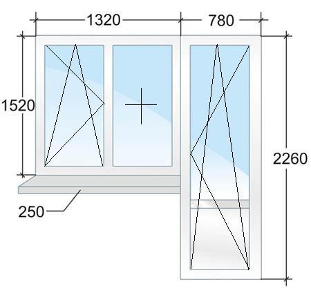 Балконный блок № 1: