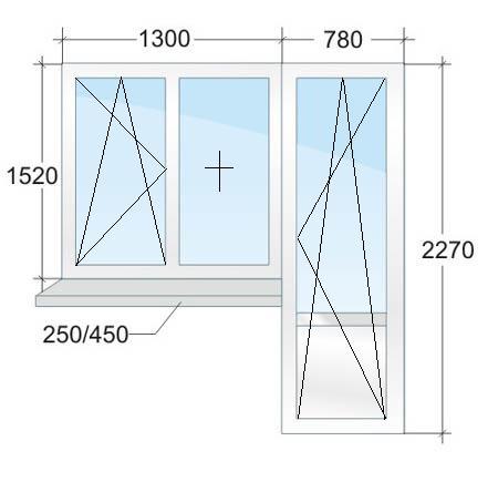 Балконный блок VEKA № 3