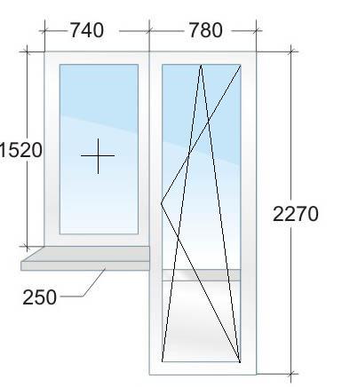 Балконный блок VEKA № 4